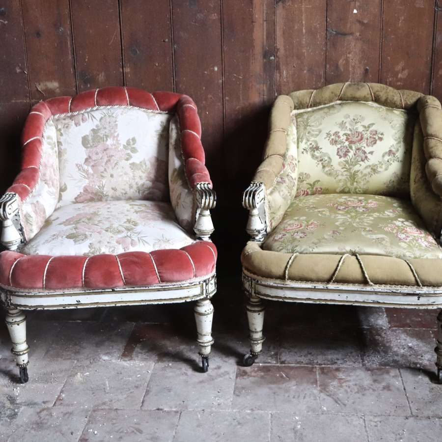 Pair of early 20th century French bedroom chairs