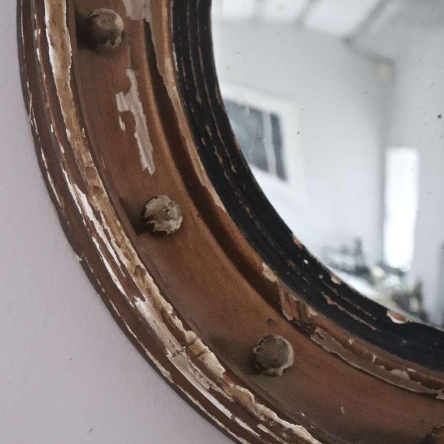 19th century giltwood porthole mirror