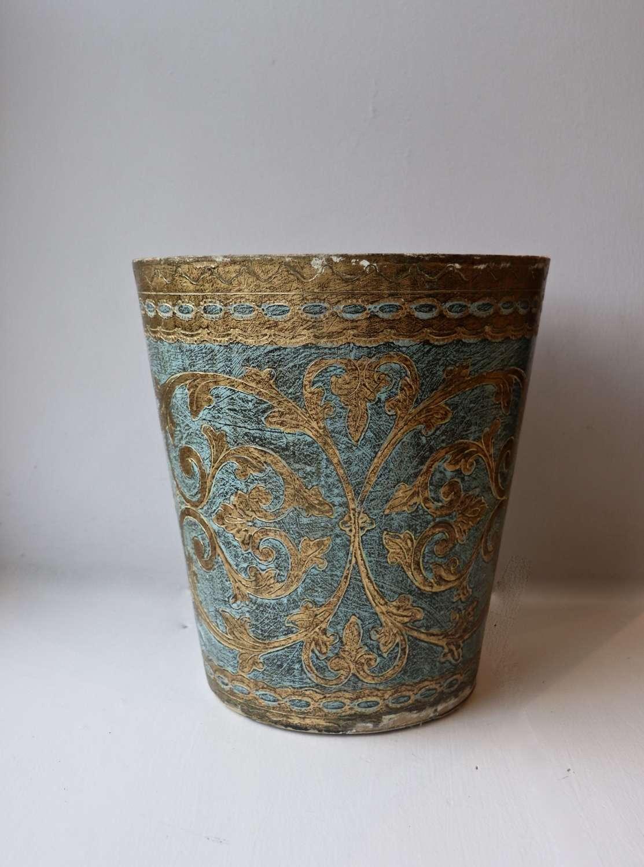 Mid century Florentine wastepaper bin
