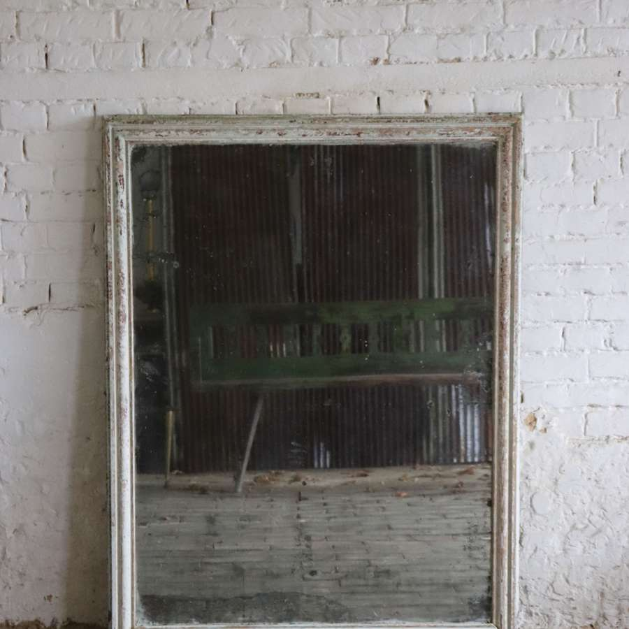 French 19th century wooden framed mirror