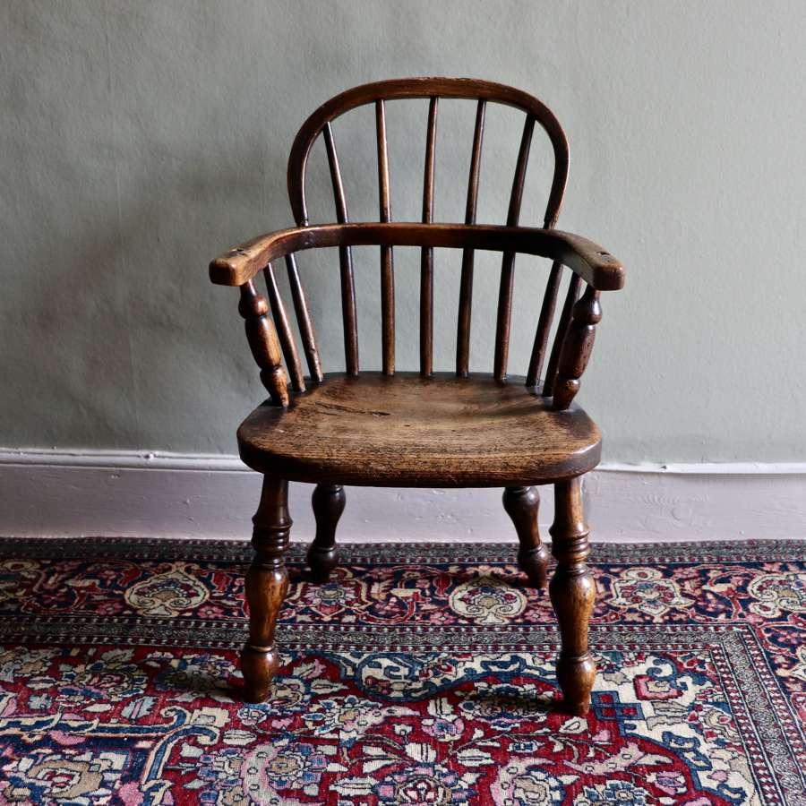 19th century child's Windsor chair