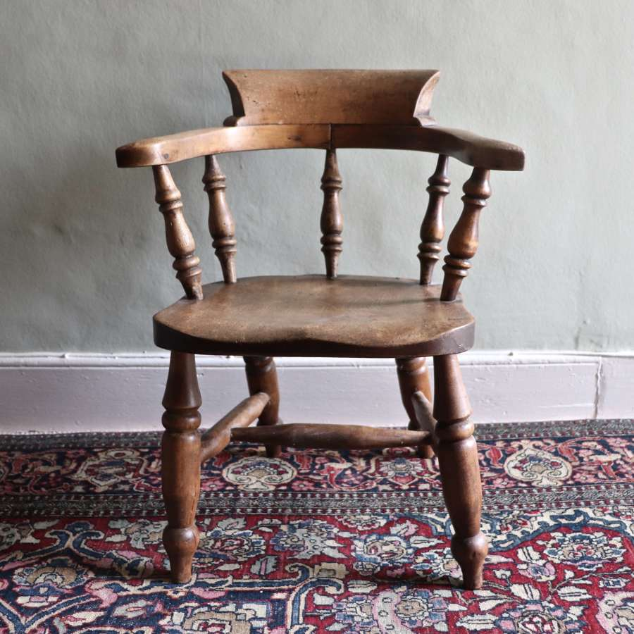 19th century child's captain's chair