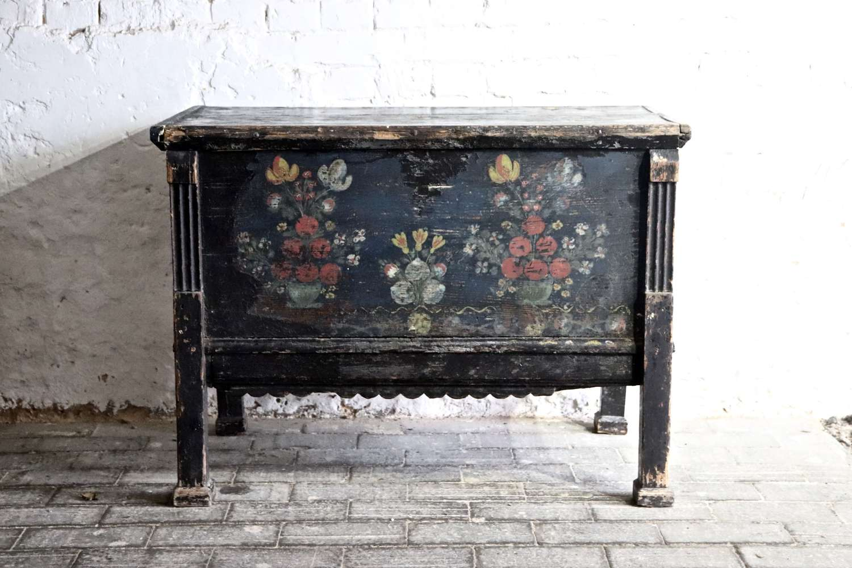 19th century floral box