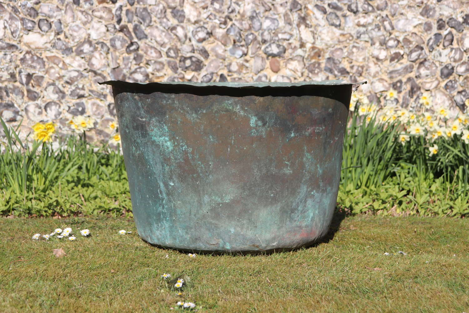 Late 19th century copper vat