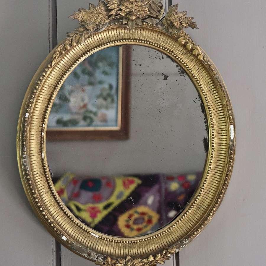 Early 20th century gilt framed mirror