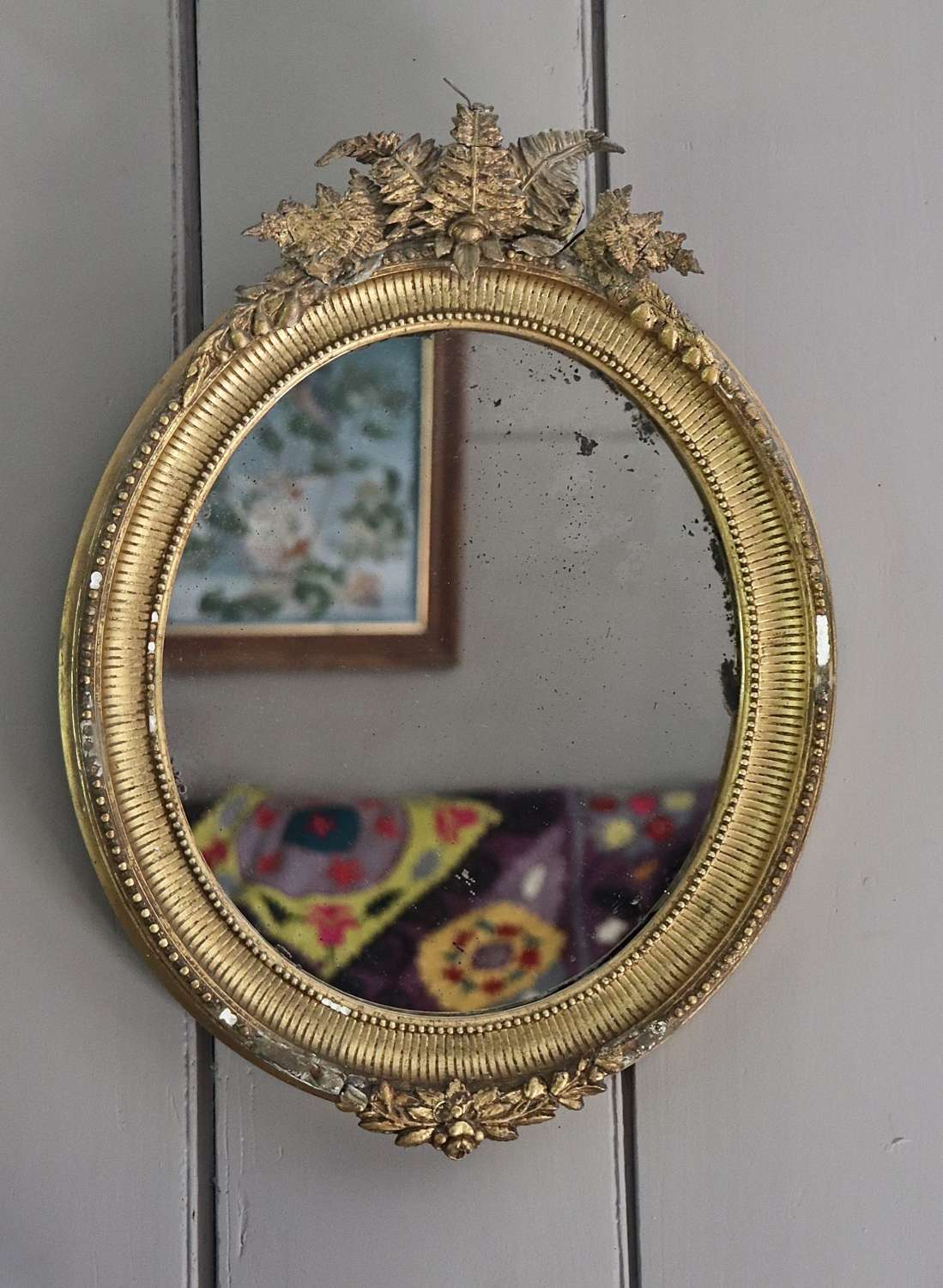 Early 20th century gilt framed mirror