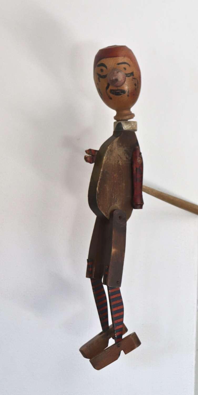 Turn of the century folk art wooden whirligig