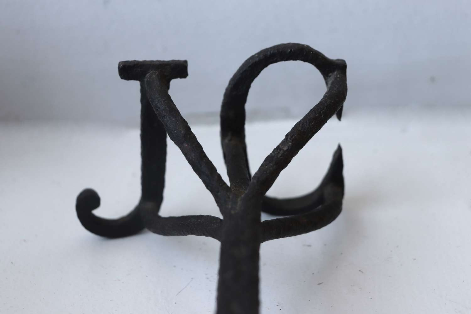 Old livestock branding iron with