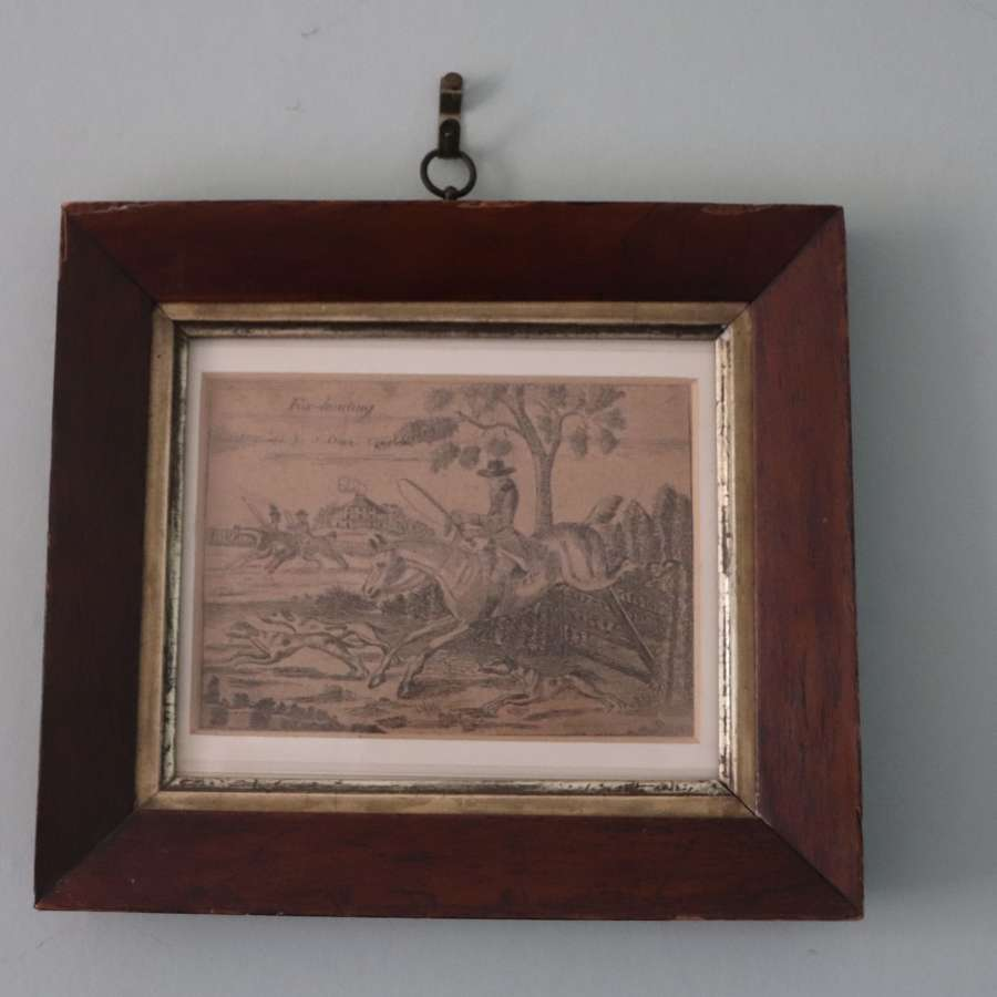 Print in 19th century rosewood frame