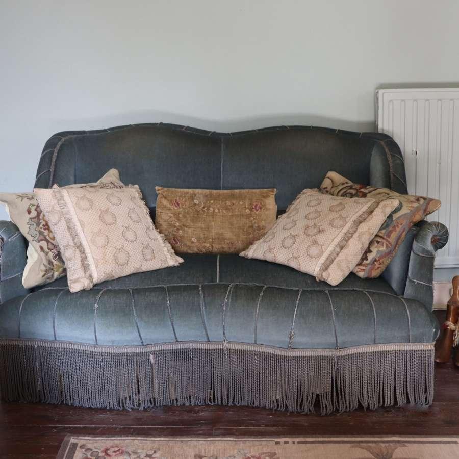 Mid century upholstered settee