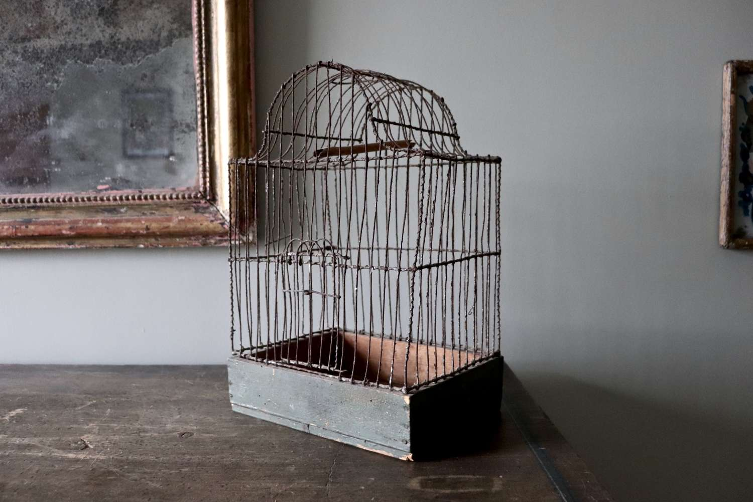 Early 20th century wooden birdcage