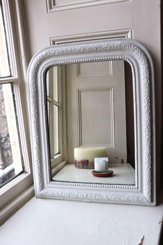 White French 19th century mirror