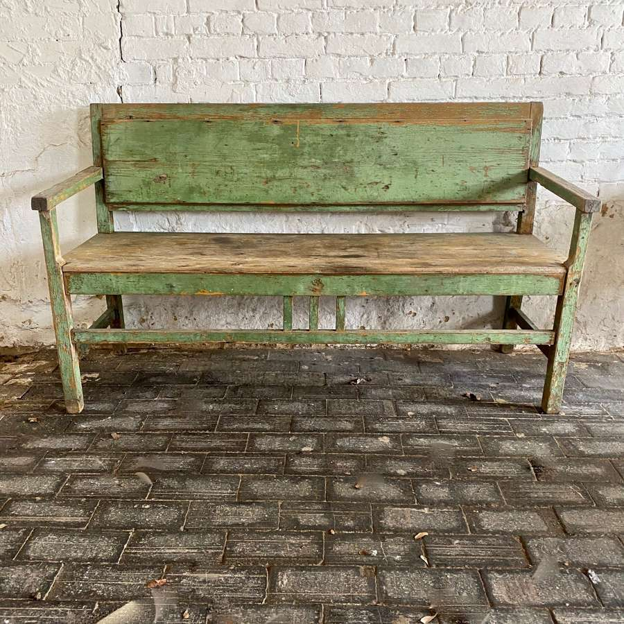 Early 20th century painted bench