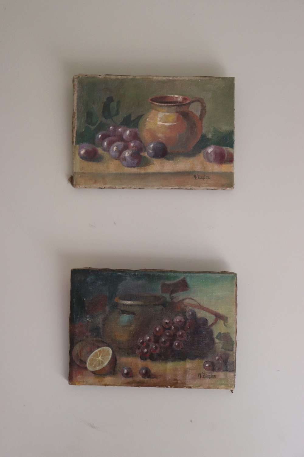 Pair of oils on canvas