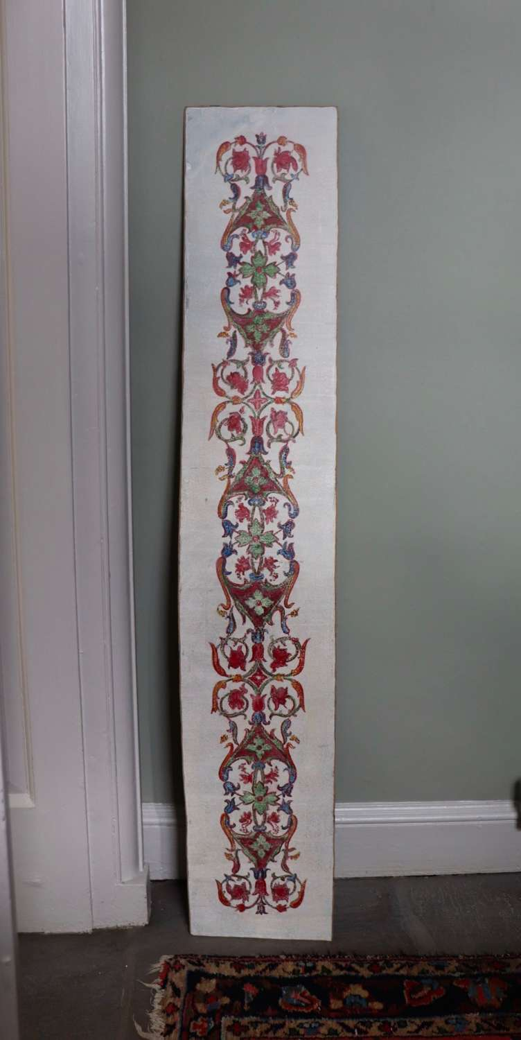 Decorative panel with painted pattern