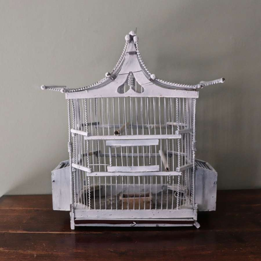 Decorative painted birdcage