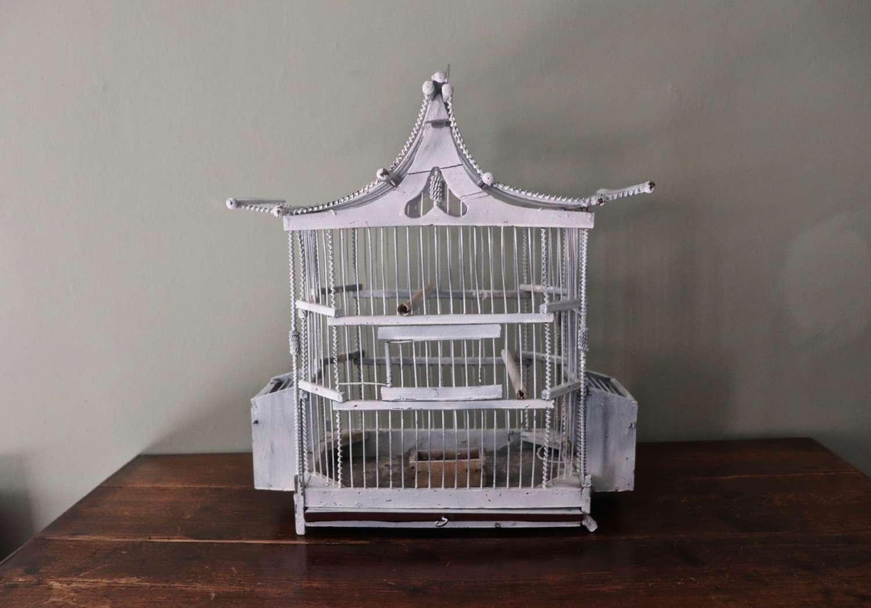 Decorative painted birdcage