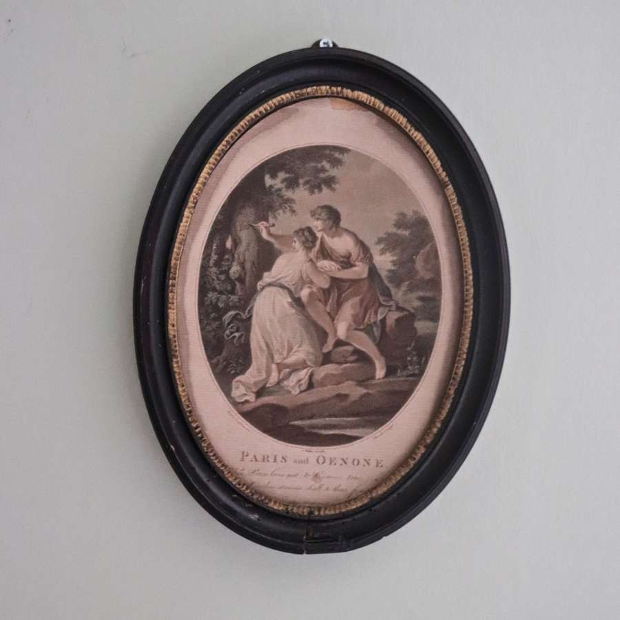 Print in 19th century oval frame