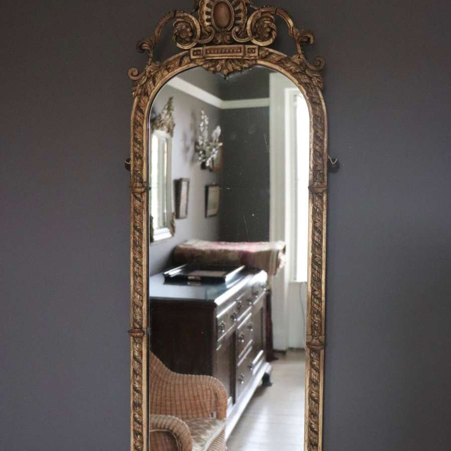 19th century gilt pier mirror