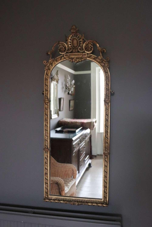 19th century gilt pier mirror
