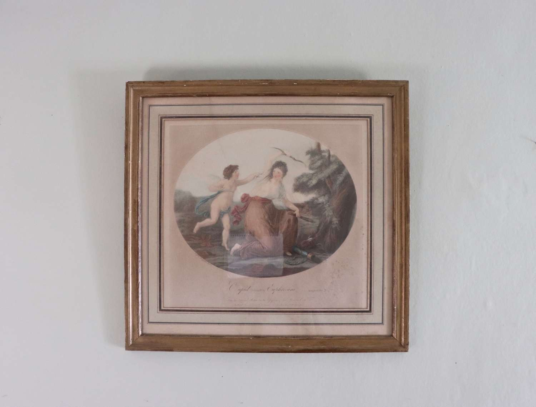 Engraving of Cupid di'farmed by Euphrosine