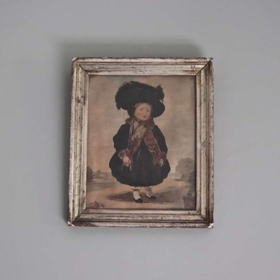 Late Georgian watercolour of a little girl in a bonnet