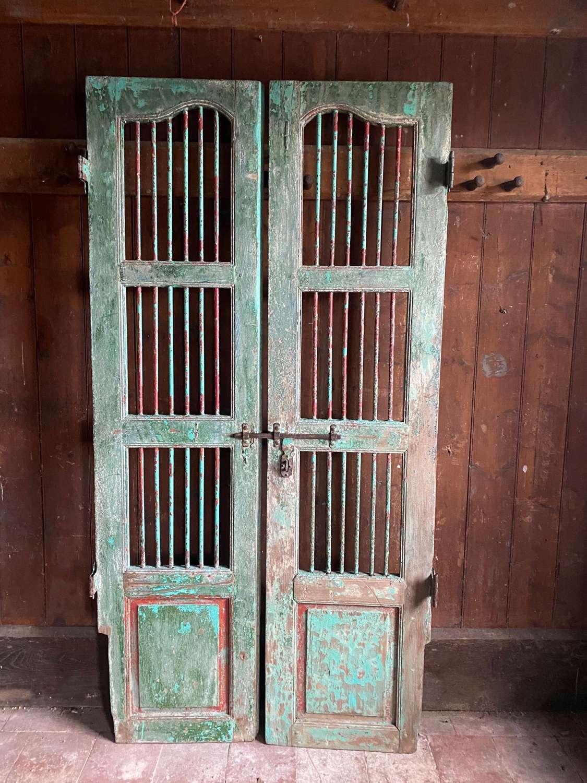 Pair of Indian hardwood decorative gates