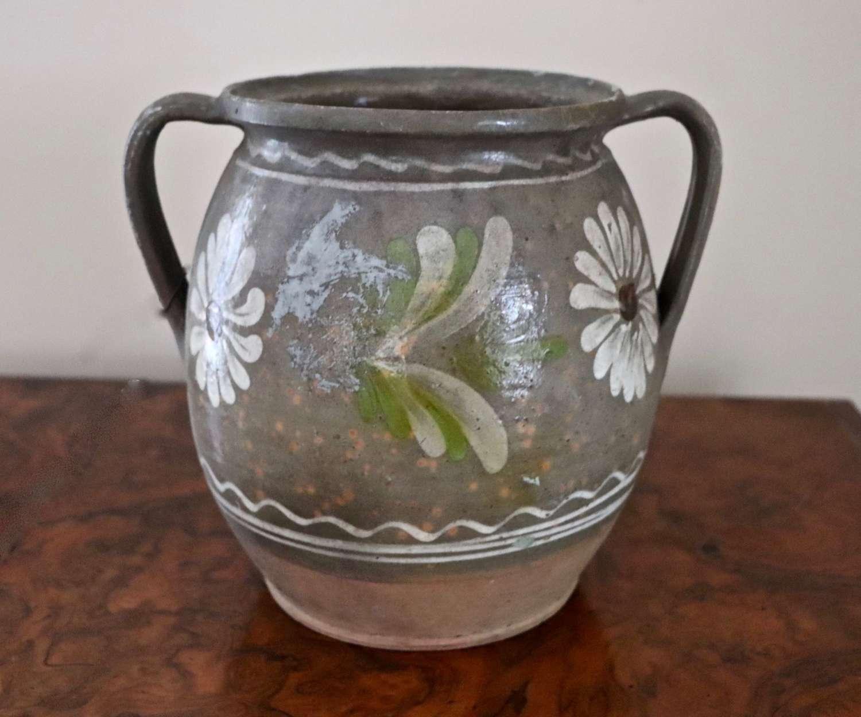 19th century glazed earthenware pot