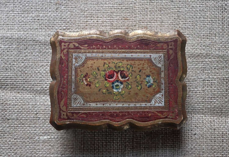 1950s Florentine box