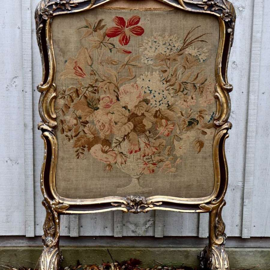 19th century tapestry firescreen