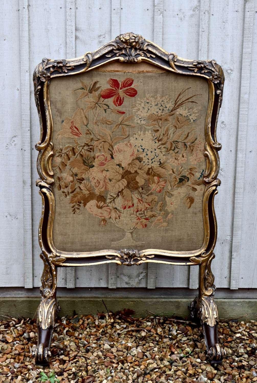 19th century tapestry firescreen