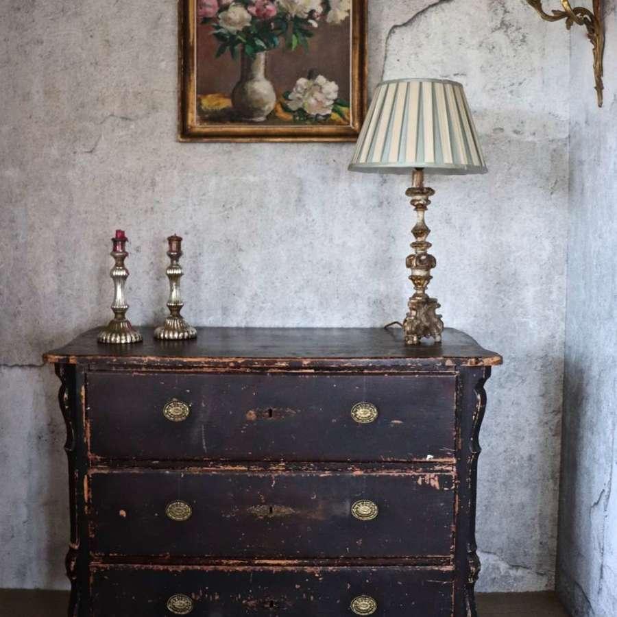 19th century chest of three drawers