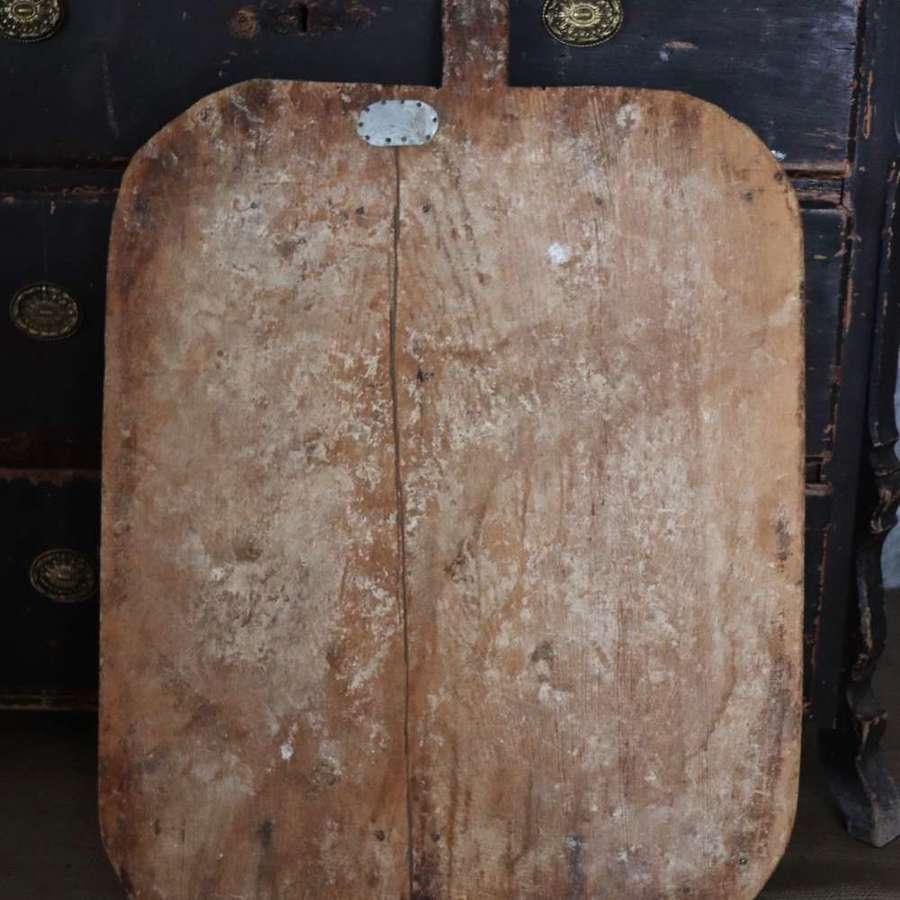 Huge early 20th century bread board