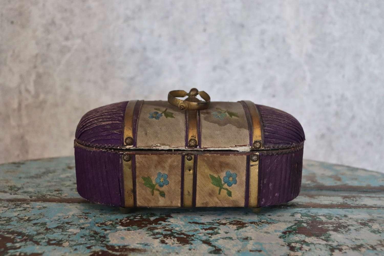19th century French silk box