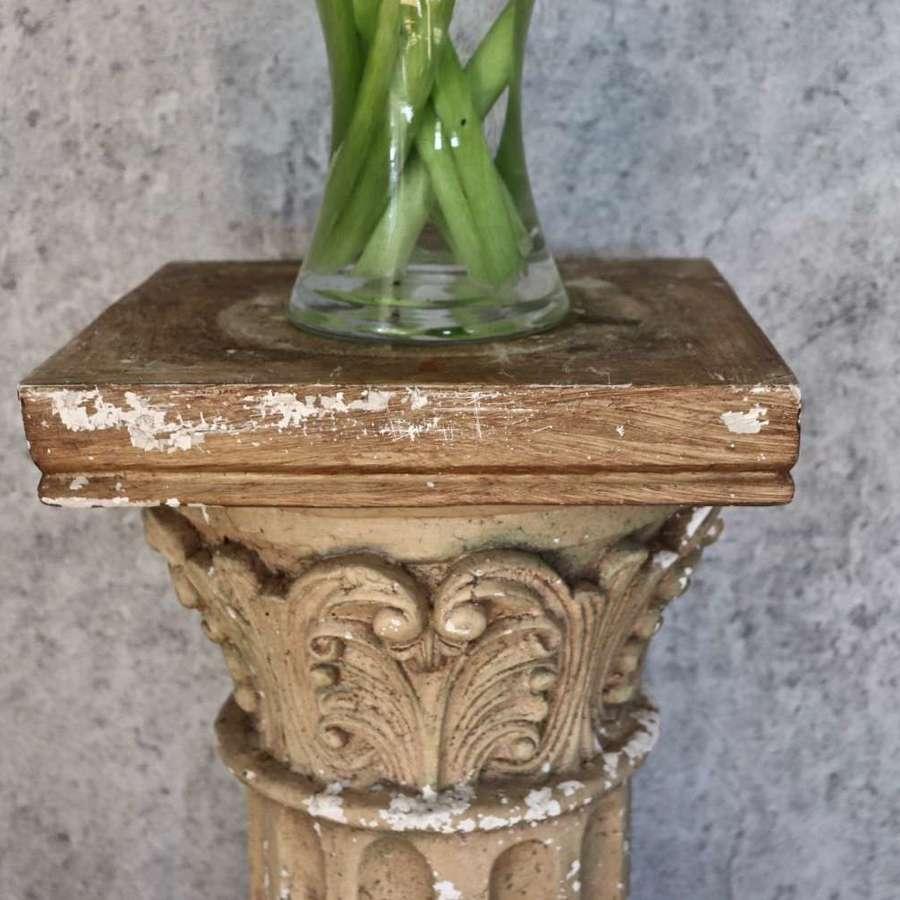 Decorative wooden column
