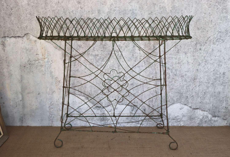 Victorian wirework plantstand