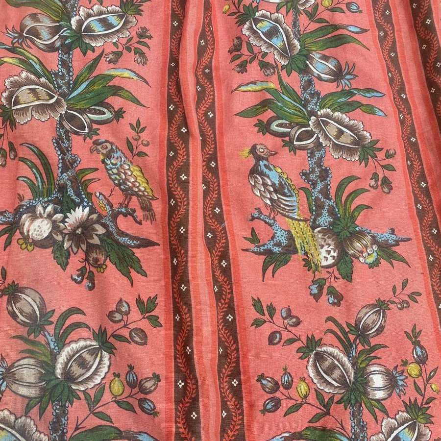 Beautiful pair of coral Edwardian curtains