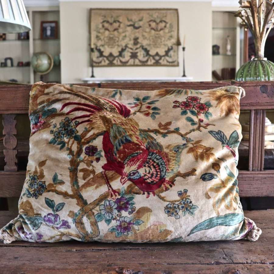 Early to mid 20th century velvet cushion
