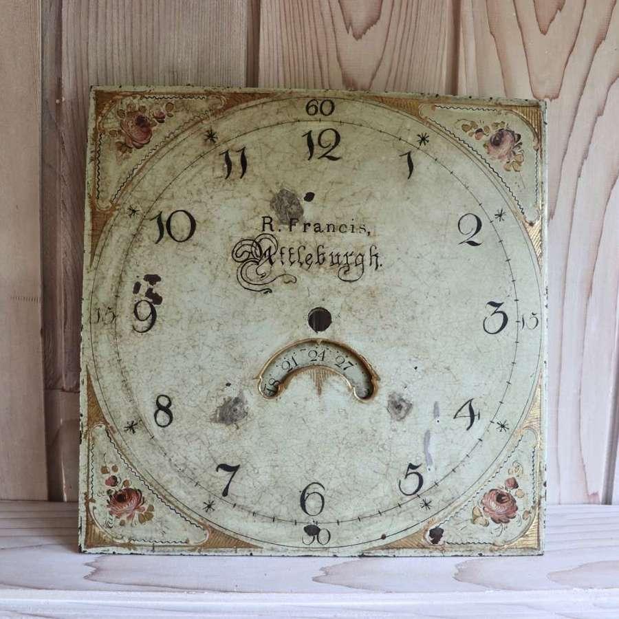 Pretty Georgian clockface R Francis Attleburgh