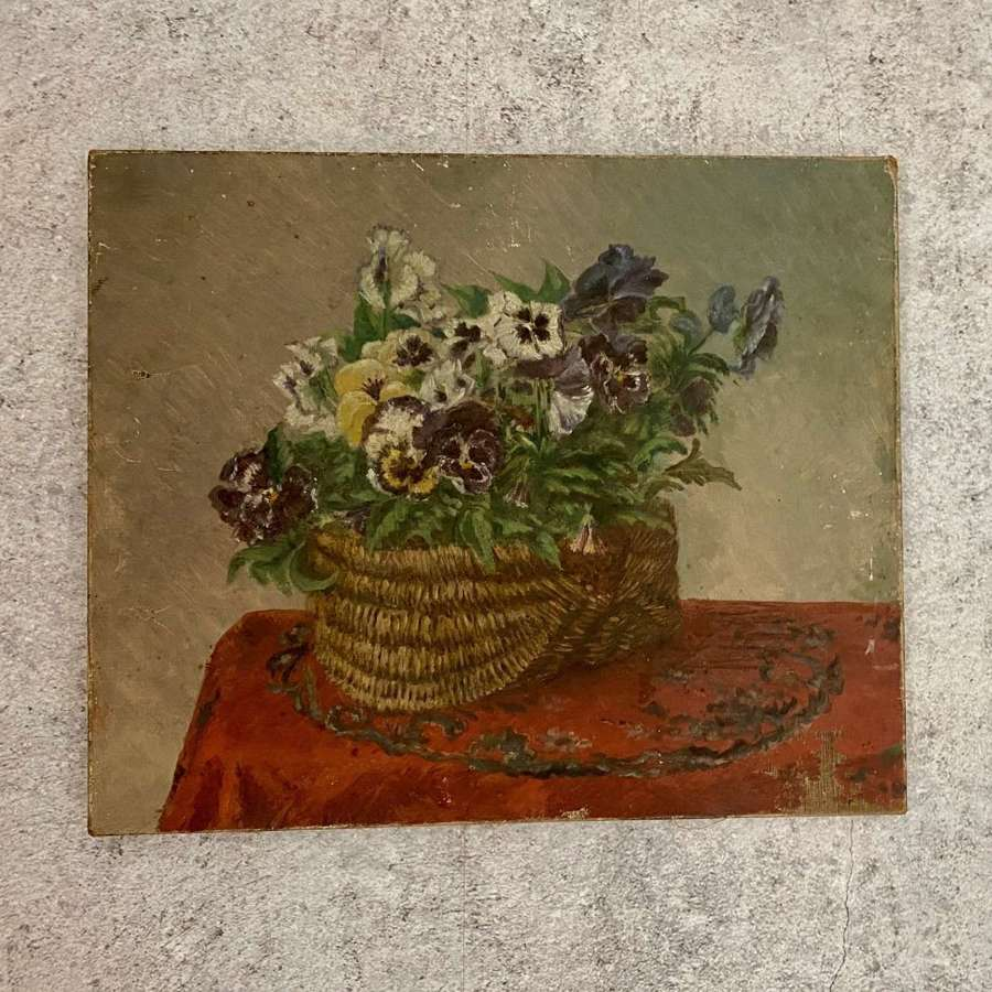 Floral early 20th century oil on canvas