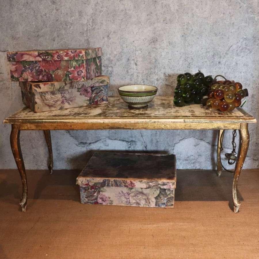 Mid century Florentine coffee table