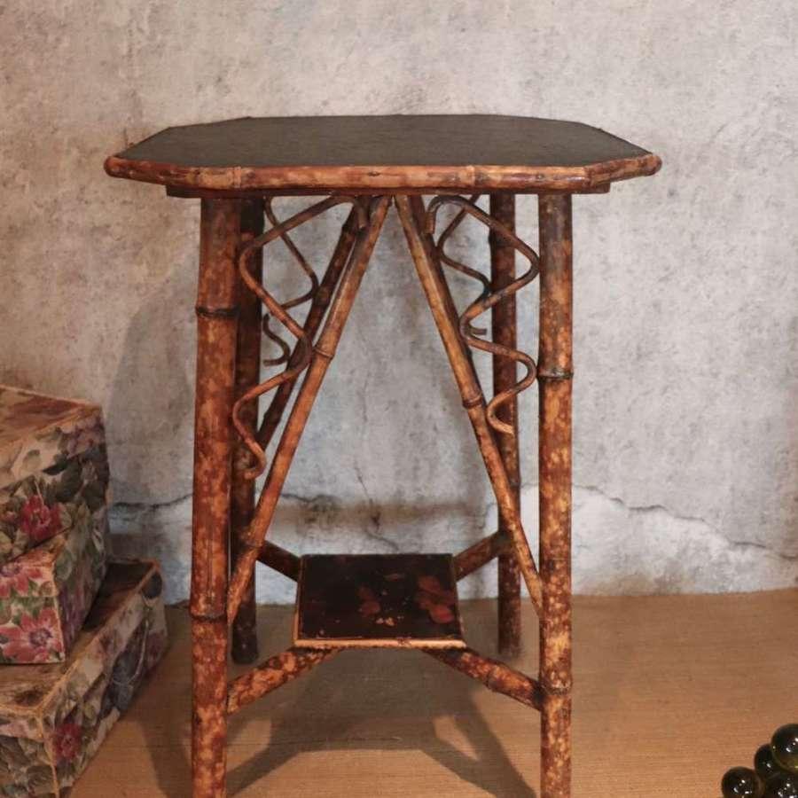 Mid century bamboo table