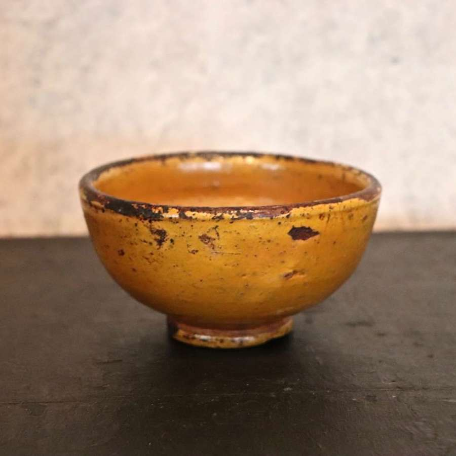 Small 19th century earthenware bowl