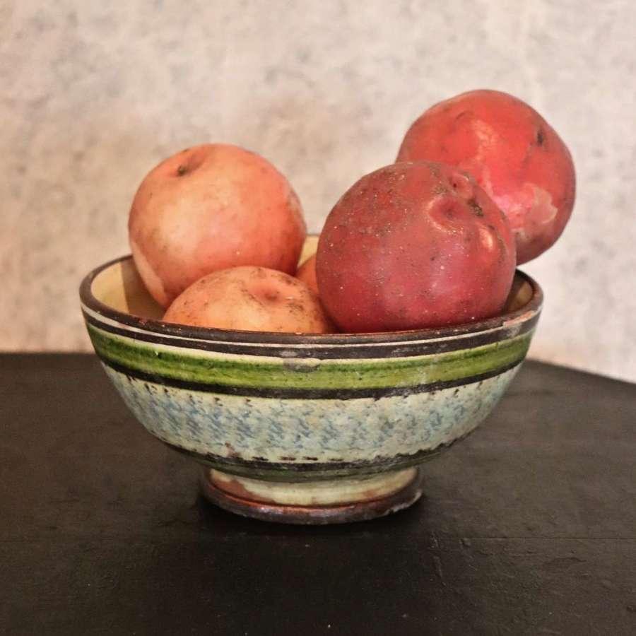 19th century slipware bowl