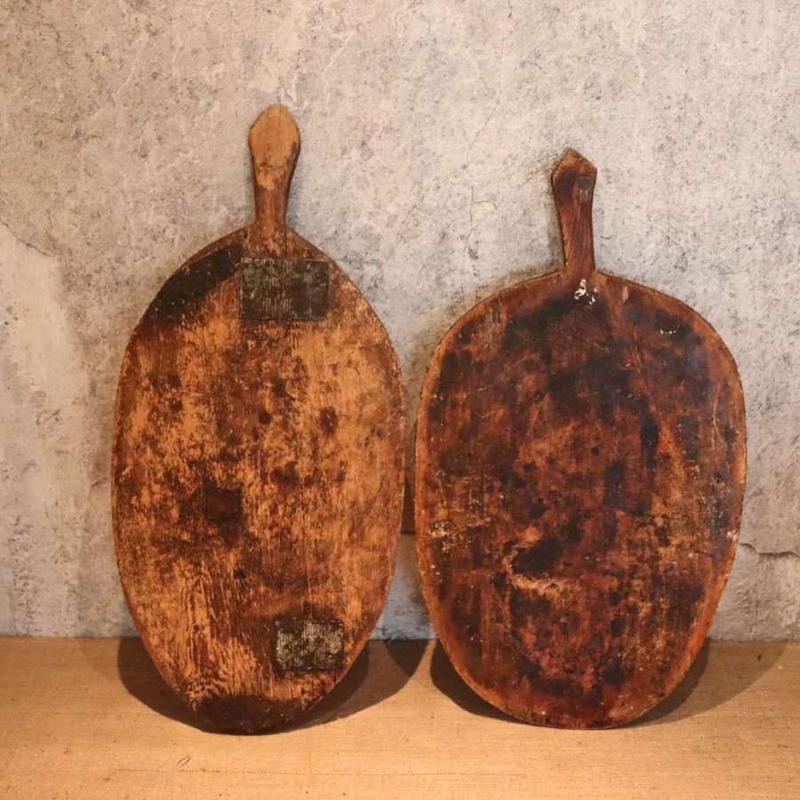 19th century hand carved bread boards