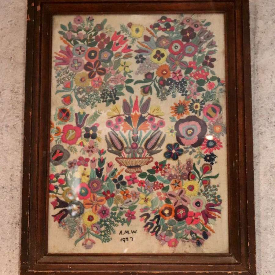Embroidery - 1927 in frame
